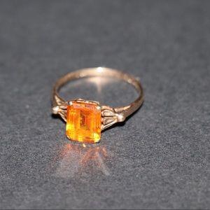 ✨Vintage✨10kt gold Citrine ring